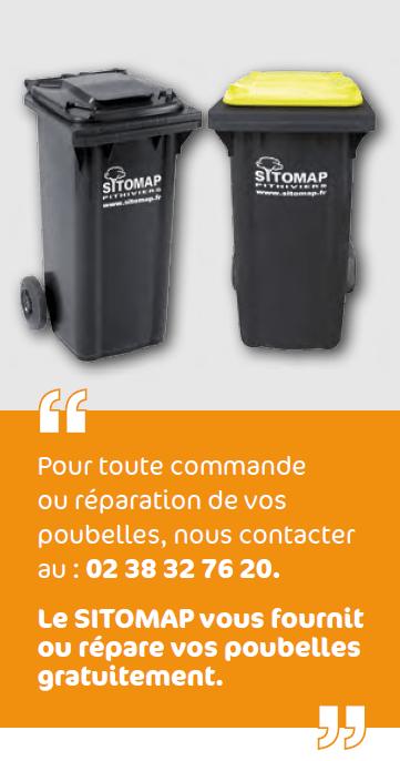 Le SITOMAP vous fournit ou répare vos poubelles gratuitement.